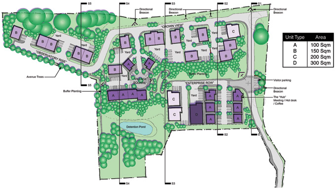 Old Dalby Site Plan